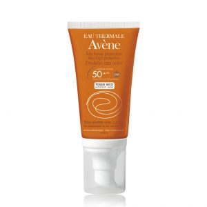 AVENE BLOQUEADOR EMULSION TOQUE SECO C/TINTE FPS50+ 50ML-0